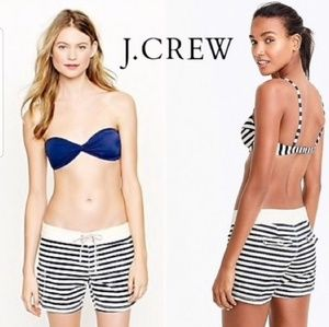 J. Crew navy white stripe board swim shorts